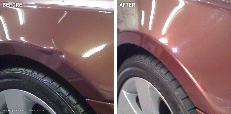 Before Amp After Precision Dent Repair Paintless Dent